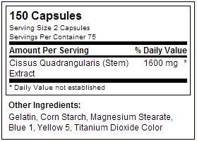 Supercissus - USPLabs - Tabela Nutricional