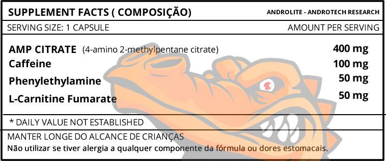 Androlite - Tabela Nutricional - Composição