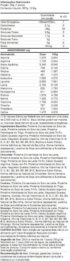 Nitro Hard Darkness - Tabela Nutricional - IntegralMédica