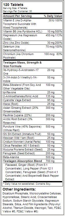 Testagen GAT Tabela Nutricional