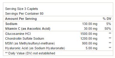 Triflex GNC - Tabela Nutricional