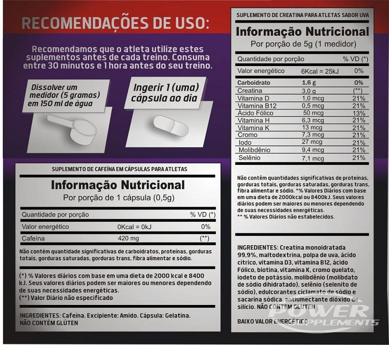 White Powder - Power Supplements - Tabela Nutricional