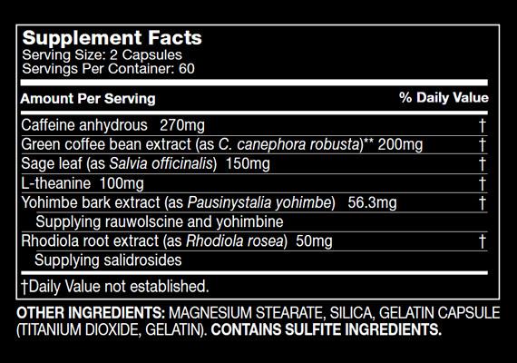 Xenadrine XT - Tabela Nutricional
