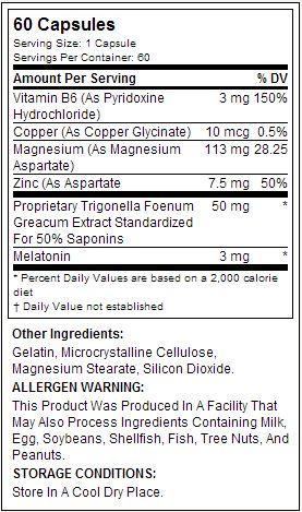 Z-Core PM - Tabela Nutricional