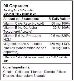 Z-Force - Dymatize - Tabela Nutricional